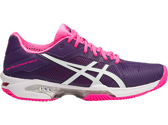 GEL-SOLUTION SPEED 3 (CLAY COURT OUTSOLE) PARACHUTE PURPLE/WHITE/HOT PINK 15