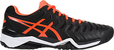 c14241f037 GEL-RESOLUTION 7 | Men | Black/Shocking Orange/White | ASICS US