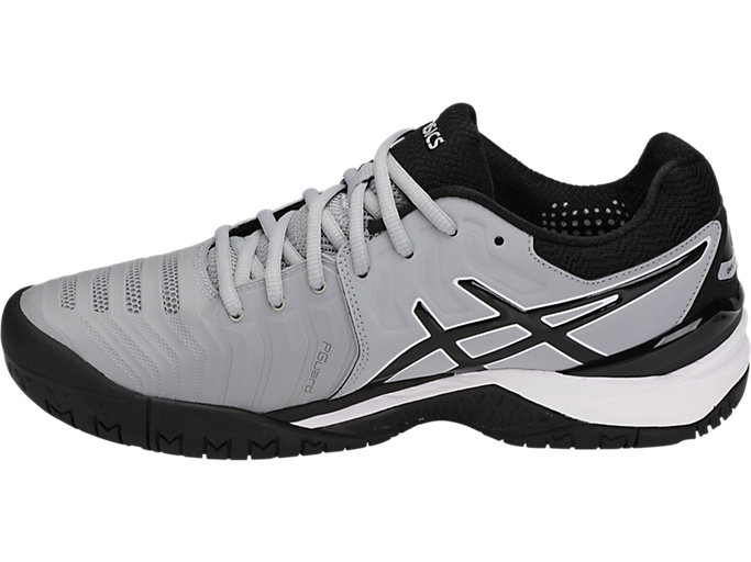 Men's GEL RESOLUTION 7 Mid GreyBlackWhiteTennisASICS Mid GreyBlackWhiteTennis ASICS