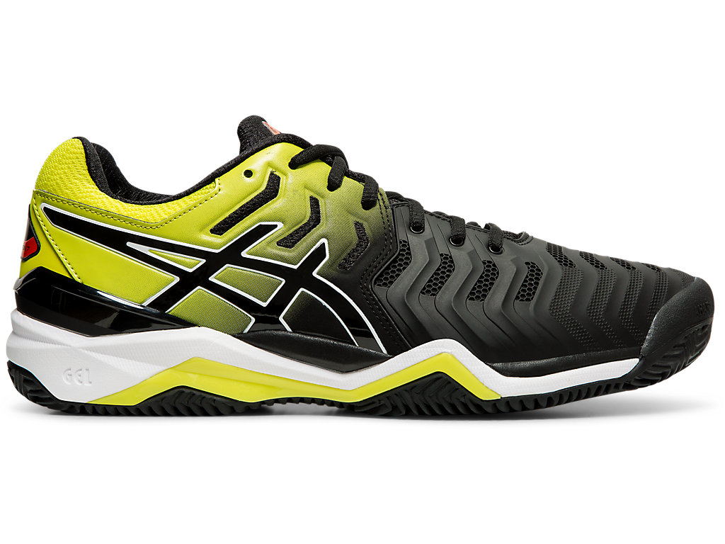 Men's GEL RESOLUTION™ 7 CLAY | BLACKSOUR YUZU | Tennis | ASICS