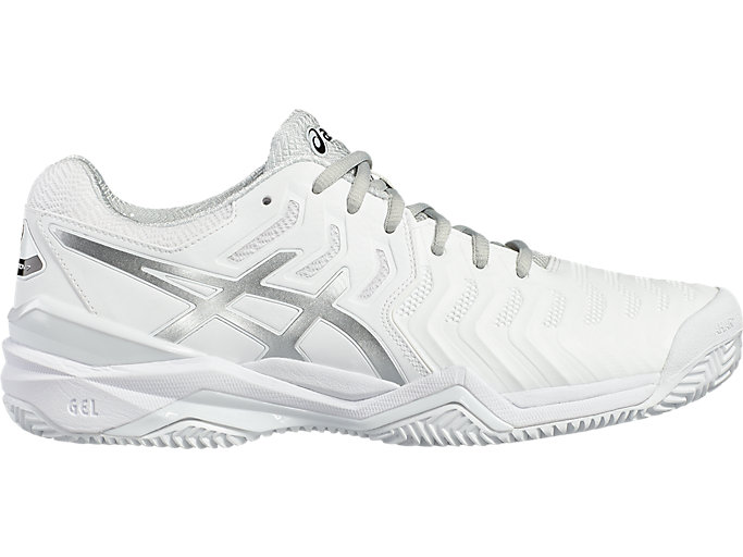 Men's GEL Resolution 7 Clay Court | WhiteSilver | Tennis