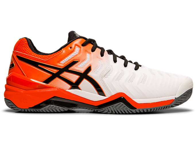 GEL-RESOLUTION™ 7 CLAY | WHITE/KOI | Men's Gear | ASICS