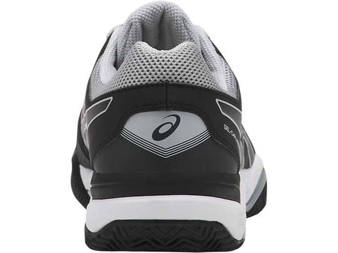 Back view of GEL-CHALLENGER 11 CLAY, BLACK/BLACK/MID GREY