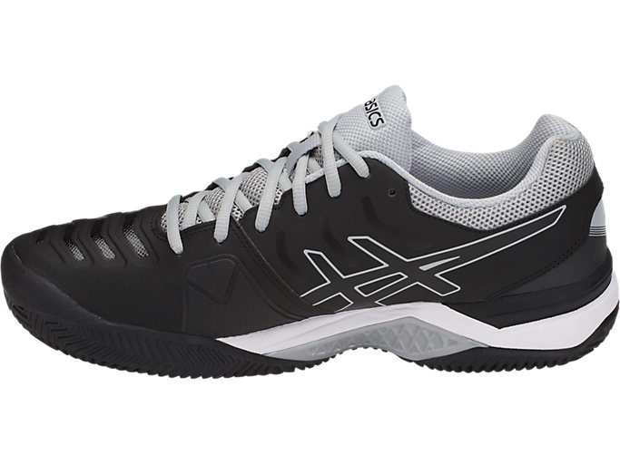 Left side view of GEL-CHALLENGER 11 CLAY, BLACK/BLACK/MID GREY