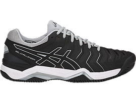 Right side view of GEL-CHALLENGER 11 CLAY, BLACK/BLACK/MID GREY