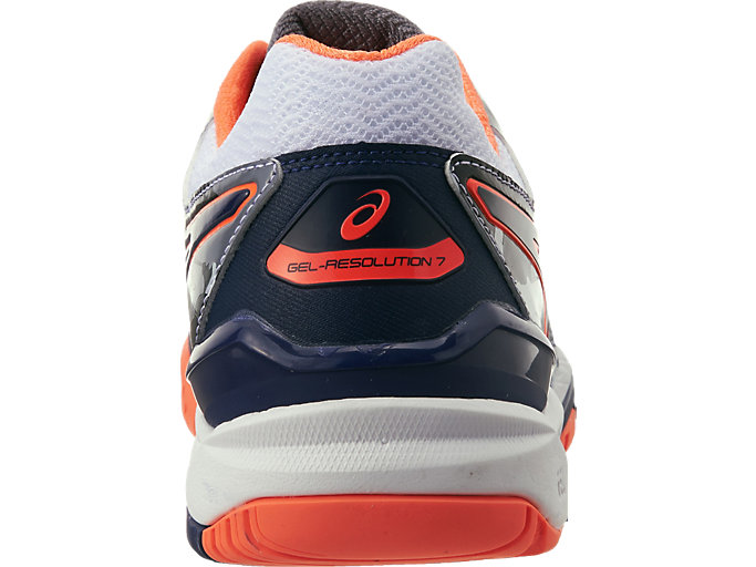 Alternative image view of GEL-Resolution 7 L.E. Melbourne para hombre, WHITE/INDIGO BLUE/HOT ORANGE