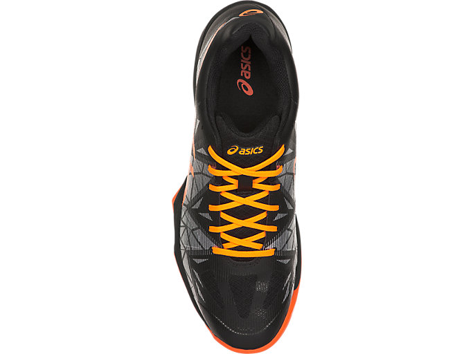 Top view of GEL-FASTBALL 3, BLACK/SHOCKING ORANGE