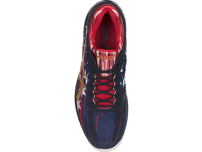 Top view of COURT FF L.E. NYC, Indigo Blue/Rich Gold/Prime Red