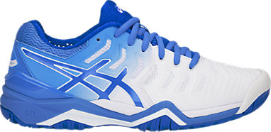 In Many Products White Blue Blue Asics Women's Tennis scarpa