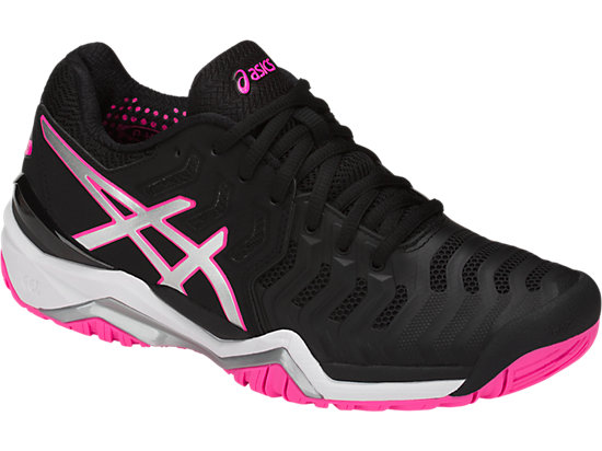 GEL-RESOLUTION 7 BLACK/SILVER/HOT PINK