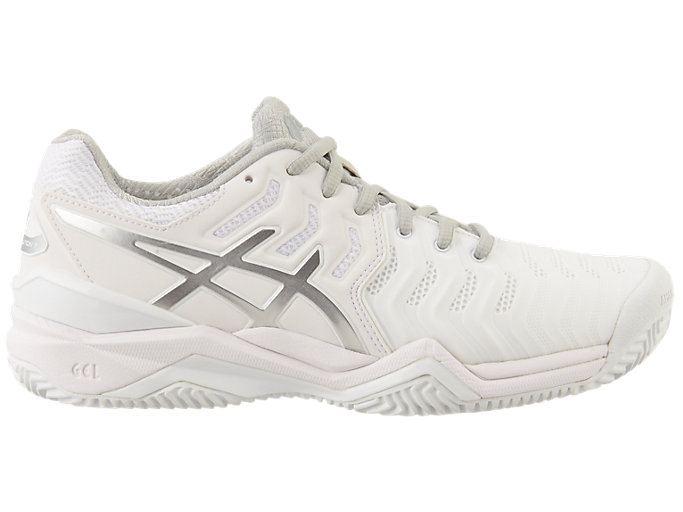 Women's GEL Resolution 7 Clay Court | WhiteSilver | Tennis