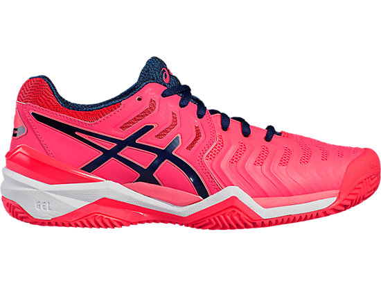 Damen Asics Gel Resolution 7 Clay Diva Rosa Indigo Blau