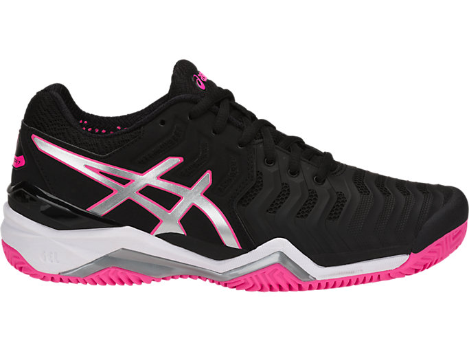 Right side view of GEL-RESOLUTION™ 7 CLAY, BLACK/SILVER/HOT PINK