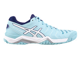 GEL-CHALLENGER 11 WOMENS, PORCELAIN BLUE/WHITE/SMOKE BLUE