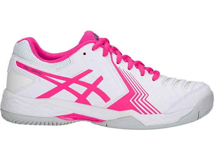 Unisex GEL-GAME 6 CLAY | WHITE/PINK GLO | ASICS | ASICS Outlet