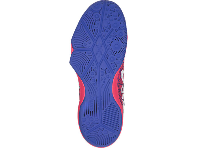 Bottom view of GEL-FASTBALL 3, BLUE PURPLE/WHITE/ROUGE RED