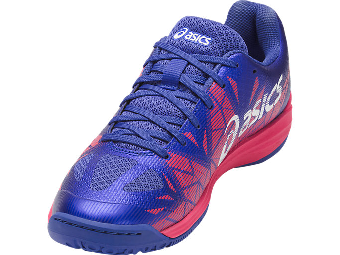 Front Right view of GEL-FASTBALL 3, BLUE PURPLE/WHITE/ROUGE RED