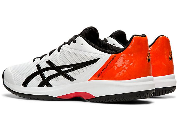 Front Left view of GEL-COURT™ SPEED, WHITE/BLACK