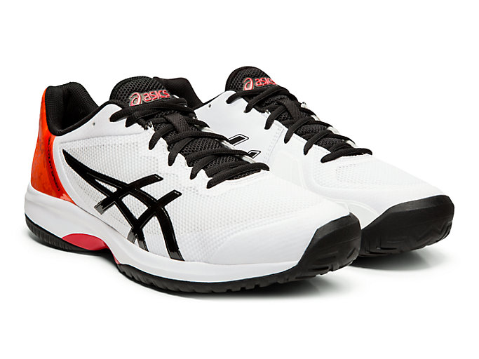 Front Right view of GEL-COURT™ SPEED, WHITE/BLACK