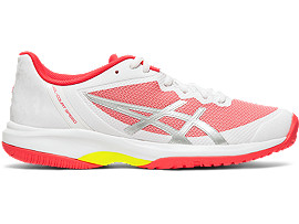 Right side view of GEL-COURT™ SPEED, WHITE/LASER PINK