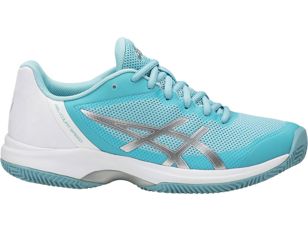 GEL COURT SPEED CLAY - Outdoor tennis shoes - porcelain blue/silver/white Discount Cost CHYXjqPbh