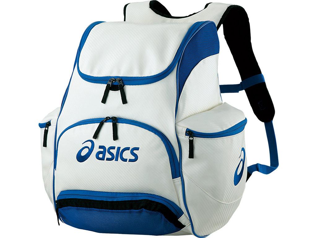 【ASICS/アシックス】 バックパック ホワイトxブルー_EBA420