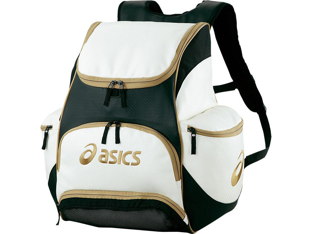 【ASICS/アシックス】 バックパック ホワイトxゴールド_EBA420