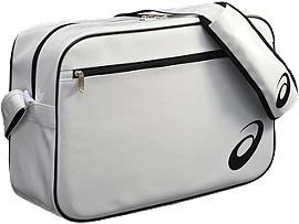 エナメルショルダーバッグM, ホワイト / ブラック