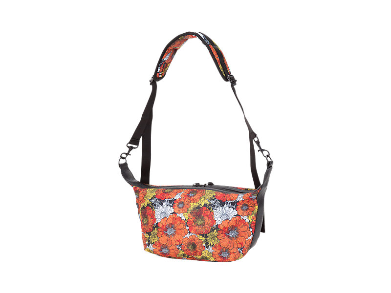 Printed Shoulder Bag Orange/White 5 BK