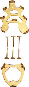 取り替え用8本歯金具(釘式)