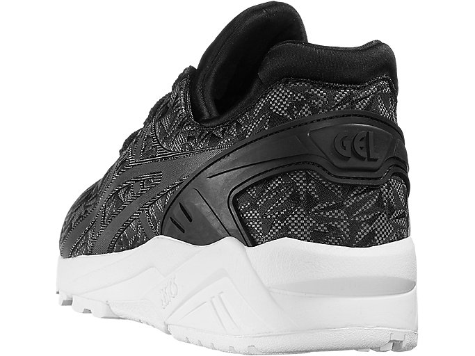 Back view of GEL-KAYANO TRAINER EVO, BLACK/DARK GREY