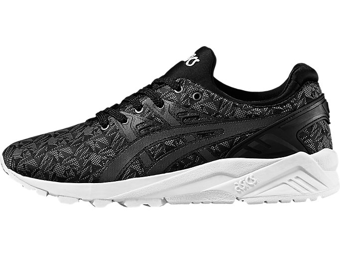 Left side view of GEL-KAYANO TRAINER EVO, BLACK/DARK GREY