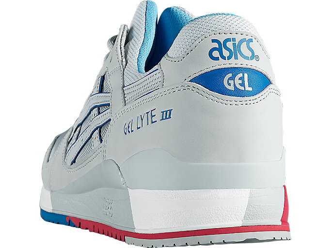 Back view of GEL-LYTE III, SOFT GREY/SOFT GREY