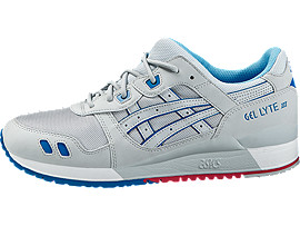 Left side view of GEL-LYTE III, SOFT GREY/SOFT GREY