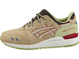 Left side view of GEL-LYTE III, SAND/SAND