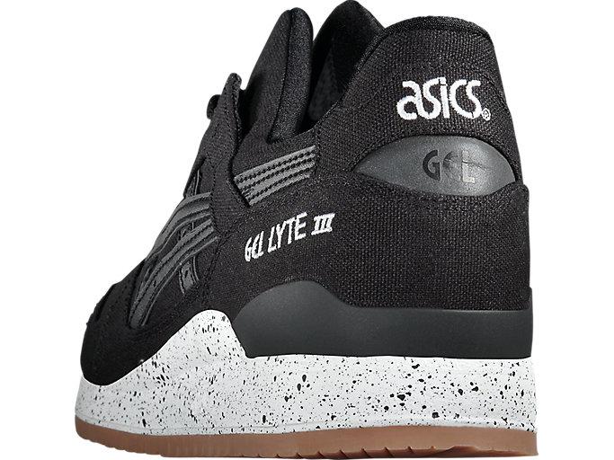 Back view of GEL-LYTE III, BLACK/BLACK