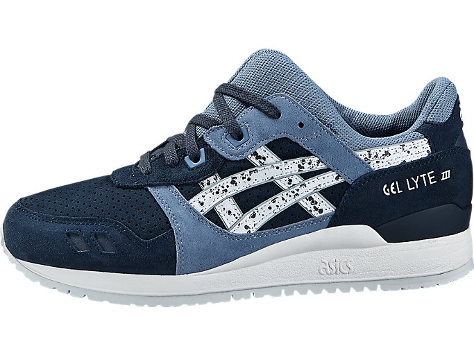 Left side view of GEL-LYTE III, INDIAN INK/WHITE