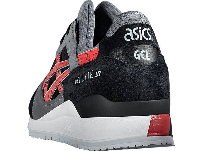 Back view of GEL-LYTE III, BLACK/CHILI