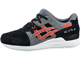 GEL-LYTE III, BLACK/CHILI