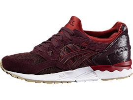 Front Right view of GEL-LYTE V, RIOJA RED/RIOJA RED