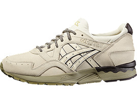 Front Right view of GEL-LYTE V, Off White/Off White