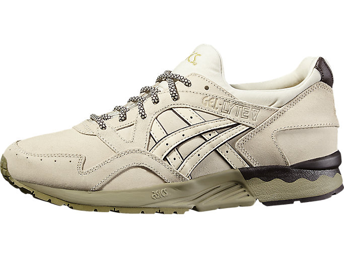 Front Right view of GEL-LYTE V, OFF-WHITE/OFF-WHITE