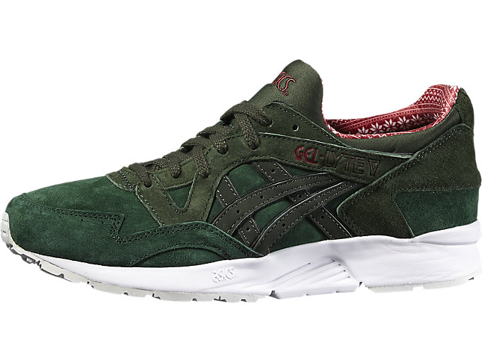 Right side view of GEL-LYTE V, DARK GREEN/DUFFLE BAG