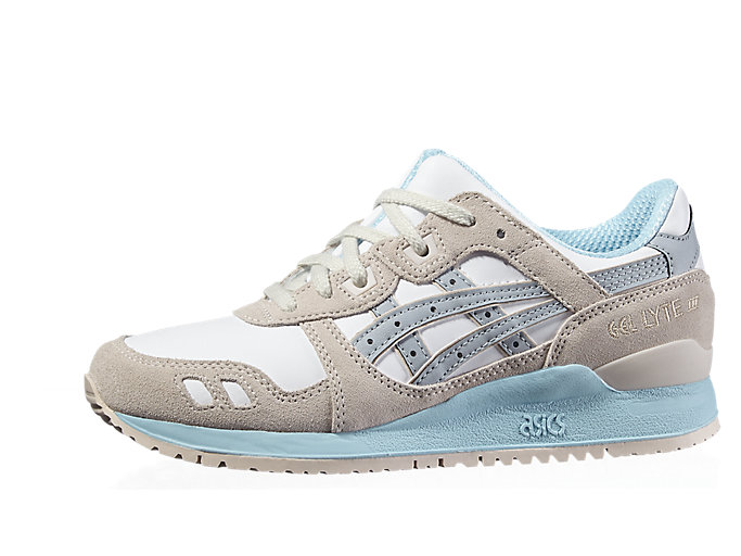 Front Right view of GEL-LYTE III, WHITE/LIGHT GREY
