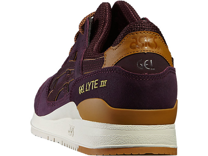 Back view of GEL-LYTE III, RIOJA RED/RIOJA RED