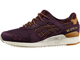 Front Right view of GEL-LYTE III, RIOJA RED/RIOJA RED