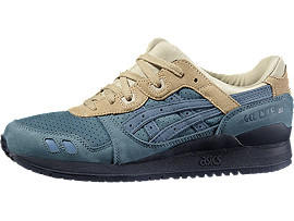Right side view of GEL-LYTE III, BLUE MIRAGE/BLUE MIRAGE
