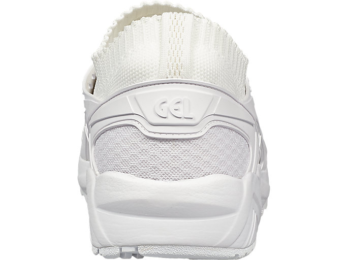 Back view of GEL-KAYANO TRAINER KNIT, WHITE/WHITE