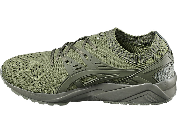 Left side view of GEL-KAYANO TRAINER KNIT, AGAVE GREEN/AGAVE GREEN