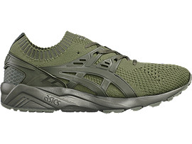 Right side view of GEL-KAYANO TRAINER KNIT, Agave Green/Agave Green